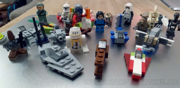 LEGO Star Wars Adventskalender 2013 75023 inhalt foto komplett alle minifigs